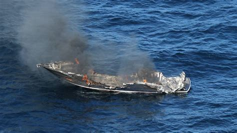 Fishing Boat Explosion by Three Rescued After Boat Explosion Nsw
