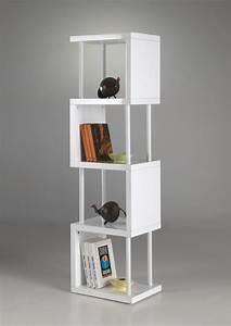 Bibliothèque Design Meuble : bibliotheque etagere blanc laque table de lit a roulettes ~ Voncanada.com Idées de Décoration