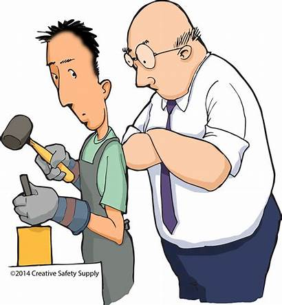 Supervisors Supervision Safety Clipart Interaction Mistakes Employee