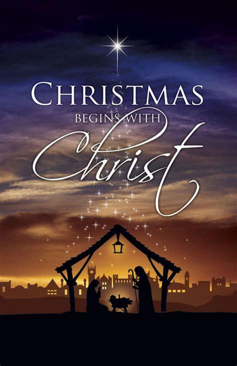 christmas begins christ postcard church postcards