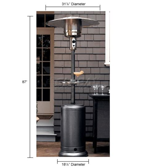 heaters patio hiland patio heater hlds01 cbt propane 48000 btu with table silver 245624