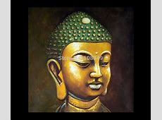 Hand painted Small gold Buddha buddha abstract oil