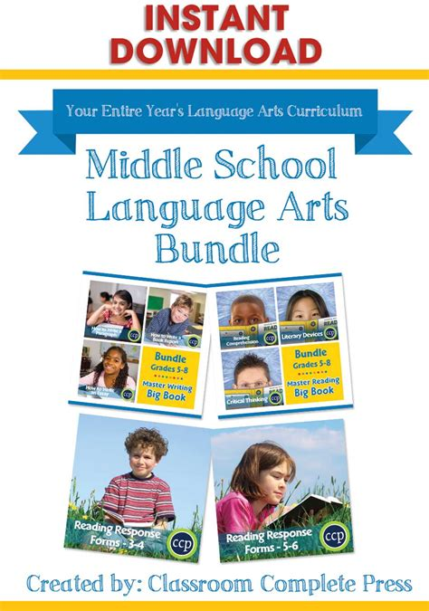 Middle School Language Arts Bundle  Grades 3 To 8  Ebook  Lesson Plan  Classroom Complete Press