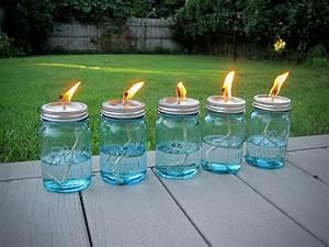 Citronella, Mason, Jar, Lanterns