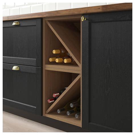 ikea vadholma wine shelf brown stained ash wine