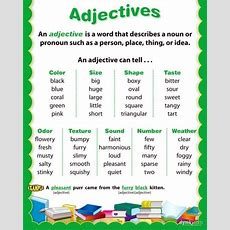 Adjectives Examples English Grammar Lesson  Adjective Examples, Grammar Lessons And English Grammar