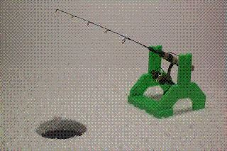 ice fishing auto jigger rod holder ultra sensitive
