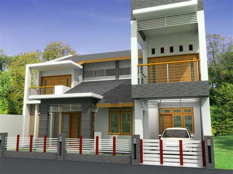 Home Terrace : Modern Homes Front Views