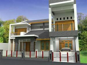 New home designs latest : Modern homes front views terrace
