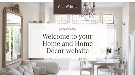 Example 7 Home And Home Décor Website Template  Godaddy