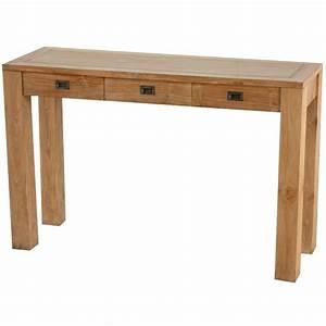 Console En Teck : console 3 tiroirs teck en teck naturel pas cher en vente chez origin 39 s meubles ~ Teatrodelosmanantiales.com Idées de Décoration