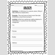 One Teacher's Adventures Noprep Figurative Language Practice Sheets (grades 48