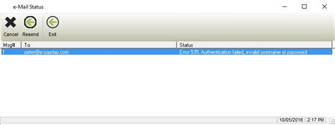 error 535 authentication failed invalid username or