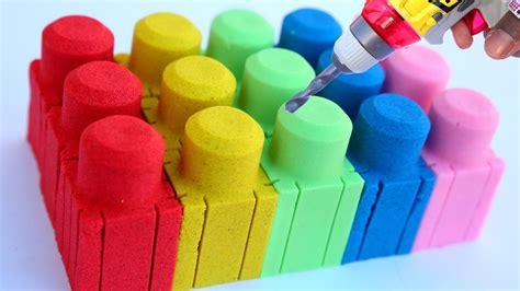 kinetic sand glitzer diy how to make colors kinetic sand mega bloks play doh