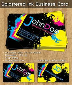 Splattered ink business card by cucuionel graphicriver for Ink business cards