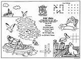 Coloring Menus Children Restaurants Sea Menu Kid Placemats Dock Activity Childrens sketch template