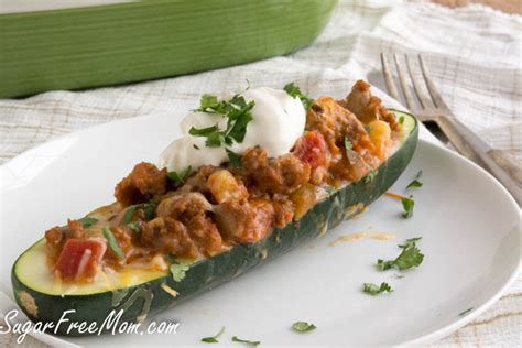 Taco Boats Low Carb by Low Carb Taco Stuffed Zucchini Boats