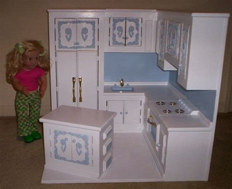18 inch doll kitchen furniture kitchen made for american size doll by