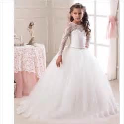 robe de mariage fille robe de fille de fleur en dentelle pour mariage filles robe de cérémonie robe de fête manches