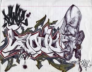 12 Graffiti Drawings In Paper  Example
