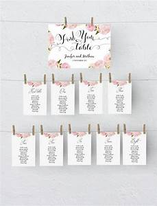 Printable Seating Chart Template  Wedding Table Plan