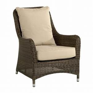Fauteuil En Resine : fauteuil de jardin confortable en r sine tress e brin d 39 ouest ~ Teatrodelosmanantiales.com Idées de Décoration