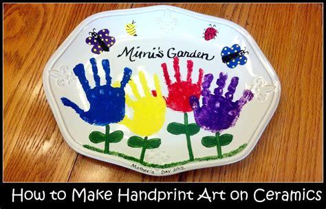 handprint art  ceramics feltmagnet