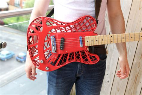 3ders org customuse offering affordable custom made 3d printed electric guitars for 163 1500 3d