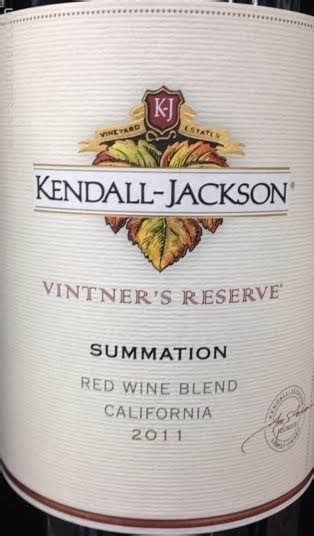 Price History: Kendall-Jackson Vintner's Reserve Summation ...