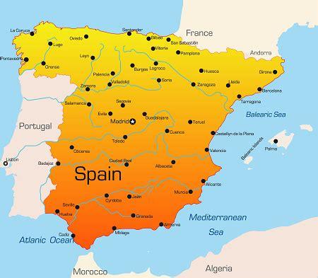 Cote Atlantique Espagne Carte by Information 252 Ber Spanien Urlaub Spanien