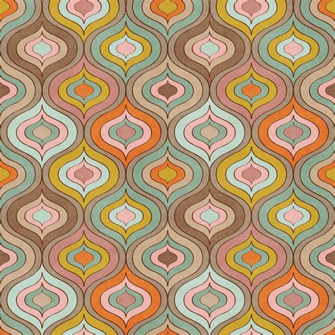 Photo Wallpaper  70s Pattern Mural Wallpaper Ohpopsi