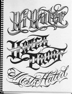 BOOG Norm Tha Union Gangster Chicano Cholo Book Gun Lettering Machine Ink   Type   Pinterest