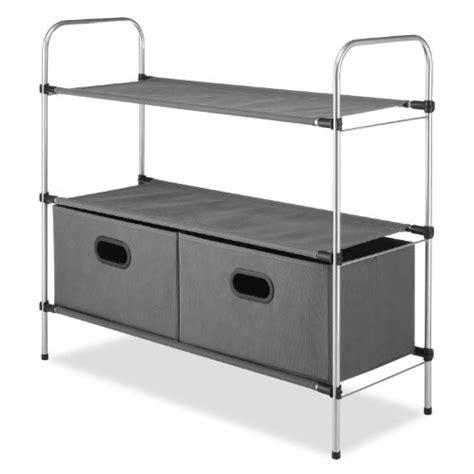 whitmor closet organizer collection 3 tier shelves with 2