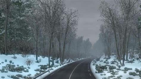 winter weather ets2 frosty v7 mod mods simulator