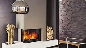 Cheminée Bois Design : cheminee moderne insert ~ Premium-room.com Idées de Décoration