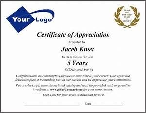 employee service awards packets and letters customizing With employee certificate of service template