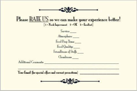 restaurant review card templates designs