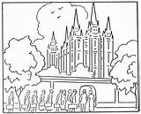 Temple Coloring Pages Lake Salt Lds Printable Temples Mormon Clip Primary History Building sketch template