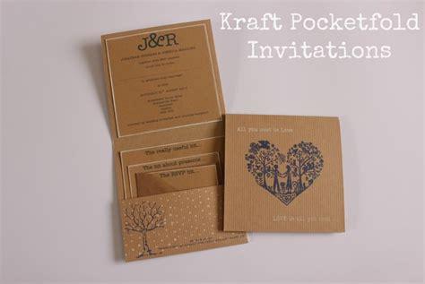 diy tutorial kraft pocketfold invitations