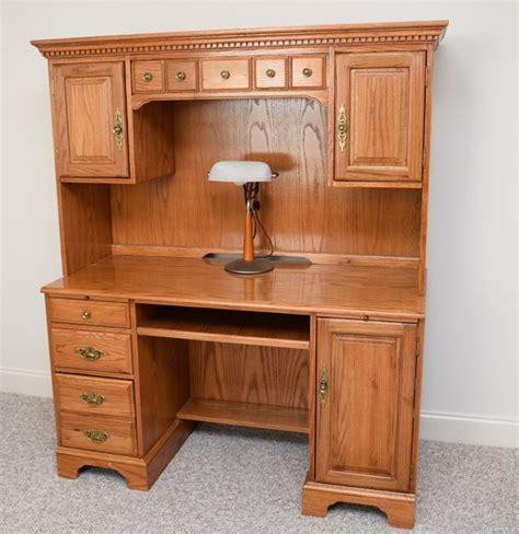 oak desk with hutch golden oak computer desk hutch with desk l ebth