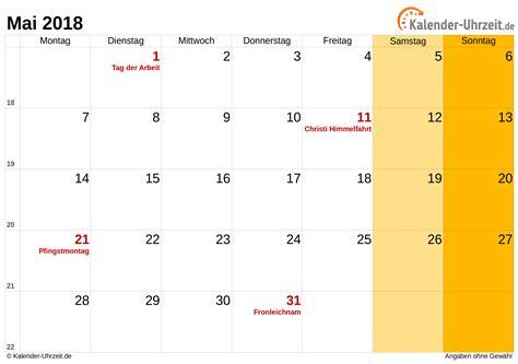 mai kalender mit feiertagen