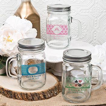 ounce personalized glass mason jar  handle