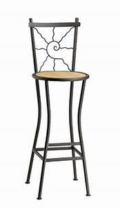 Tabouret De Bar Fer : tabouret de bar fer forg soleil mobilier ~ Dallasstarsshop.com Idées de Décoration