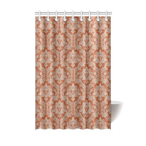 autumn fall colors beige damask shower curtain 48 quot x72