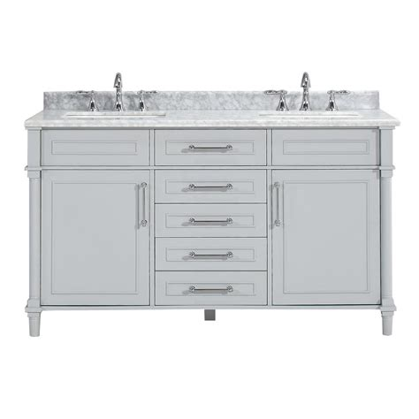 home depot bathroom double sinks home decorators collection aberdeen 60 in w x 22 in d