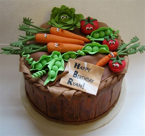 Garden Decoration For Cake by Happy Vegetables Cakecentral