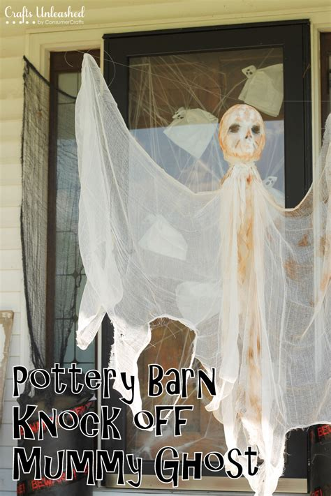 diy outdoor decorations hanging mummy ghost