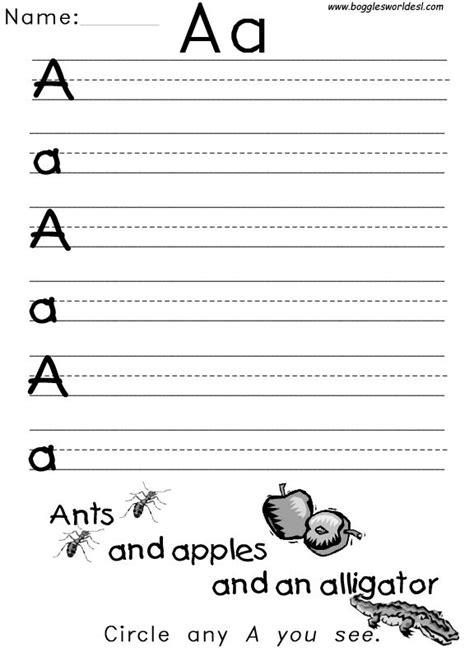 tons  alphabet worksheets   net