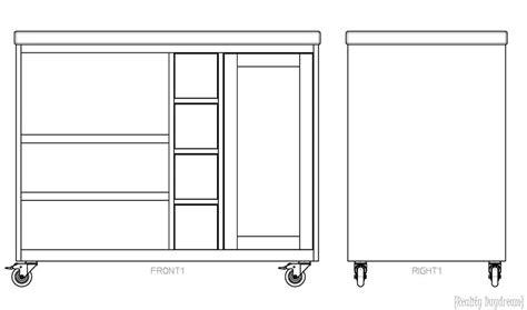 plans for a kitchen island custom diy rolling kitchen island reality daydream 7501