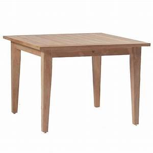 Club Teak 42 U0026quot  Square Outdoor Farm Table